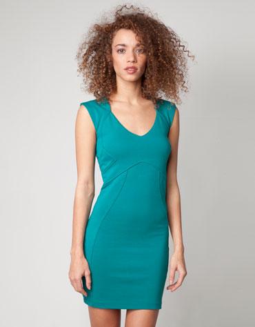 Vestido azul bershka